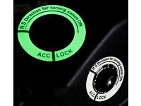 Automotive Night Glow Switch Sticker Decoration Key Ring Trim Cover For VW Golf