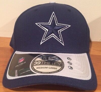 Dallas Cowboys OFFICIAL 2015 New Era 39Thirty Player Coach Sideline Cap Hat M-L