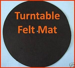2-x-QUALITY-SOFT-FELT-TURNTABLE-SLIP-MATS-DJ-HIGH-QUALITY-PLAIN-WHITE-LOGO