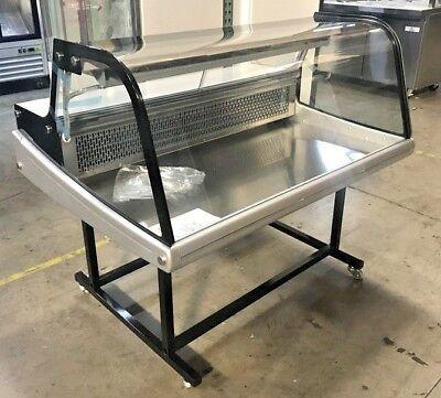 New 48 Showcase Refrigerator Cooler Bakery Deli Display Fridge On Wheels