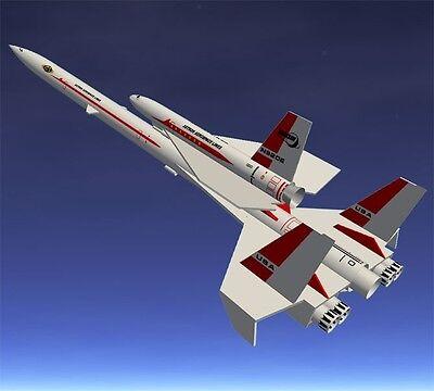 Flying Model Rocket Kit   Semroc Orbital Transport Kv 66   Skill Level 2   Estes