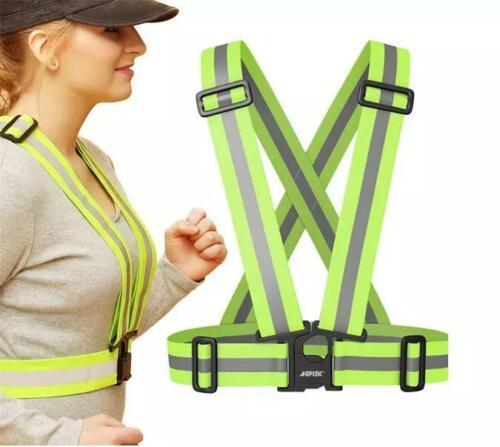 Adjustable Safety Reflective Vest Belt Strips Green