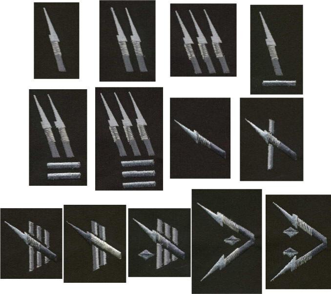 Starship Troopers Rank Epaulets, Pair: Choice of rank