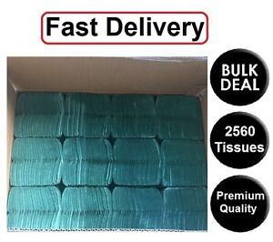Blue Paper Hand Towels C fold 2560 tissues Multi Fold Premium Quality Single Ply