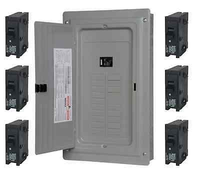 100-amp 40-circuit 20-space Main Load Center Panel Includes 6 20-amp Breakers