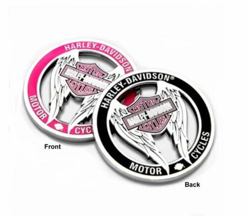 Harley Davidson® Pink Bar & Shield Wings Cutout Challenge Coin