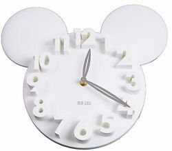 USD - Modern Style Home  Decoration Mickey Mouse Big Digit 3D Wall Clock WHITE