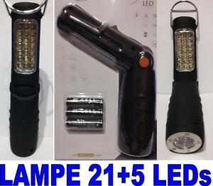 lampe 21 5 leds inspection baladeuse atelier torche pour mecanicien ebay. Black Bedroom Furniture Sets. Home Design Ideas