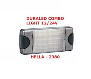 LED 12/24 Volt Duraled Combination Lamp Stop Tail Indicator Reverse HELLA 2380