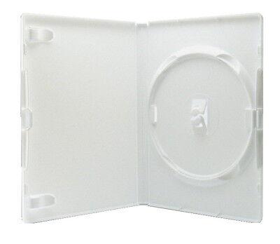 100 Amaray DVD Hüllen 1er Box 14 mm für je 1 BD / CD / DVD weiß