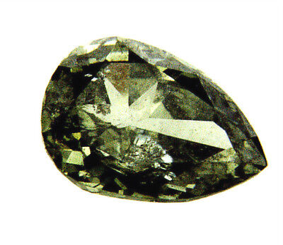 Loose Diamond 0.45 CT Natural Fancy Chameleon Green Color Pear Cut GIA Certified