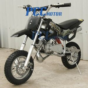 FREE-SHIPPING-2-STROKE-MOTOR-MINI-BIKE-DIRT-POCKET-BIKE-BLACK-9-DB49A