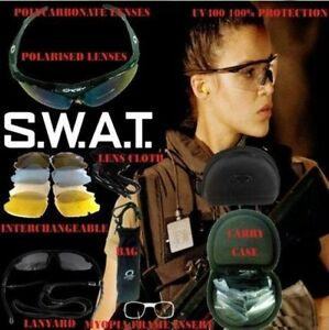 Polycarbonate Shooting Glasses 5 Sunglasses lenses Cycling yellow Hunting Extras