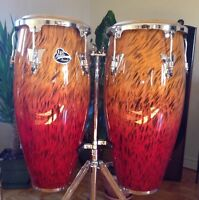 Conga set LP Accents + Stand