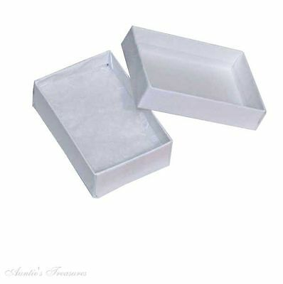Wholesale 100 Small White Swirl Cotton Filled Jewelry Gift Boxes 1 7/8