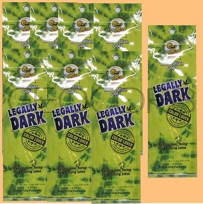 20 Australian Gold Legally Dark 18x Bronzer Packet Tannin...