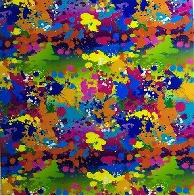 Water Transfer Hydrographic Film Hydro Dip Hydro-dipping Paint Splatter 2 1sq