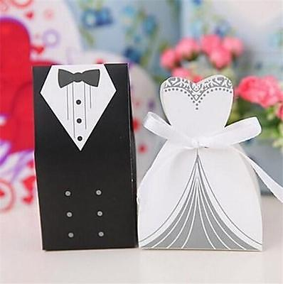 100 BRIDE AND GROOM WEDDING FAVOR BOXES Bridal Shower Gift Candy Box #ST4 Bride Groom Favor Boxes