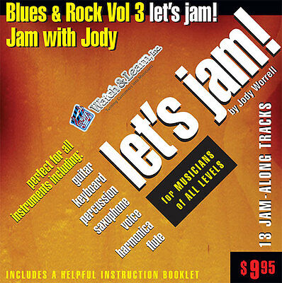 Blues & Rock CD Backing Trax- for guitar-keys-drums-sax-harp-flute & vocals
