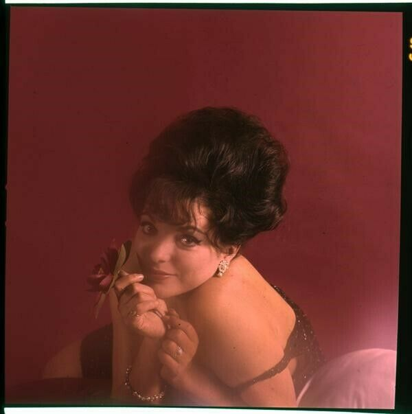 Joan Collins Sultry Boudoir Glamour Photo Shoot Original 2 1/4 Transparency