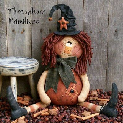PATTERN Primitive Raggedy Ann Doll Halloween Pumpkin Witch Doll FREE - Raggedy Doll Halloween