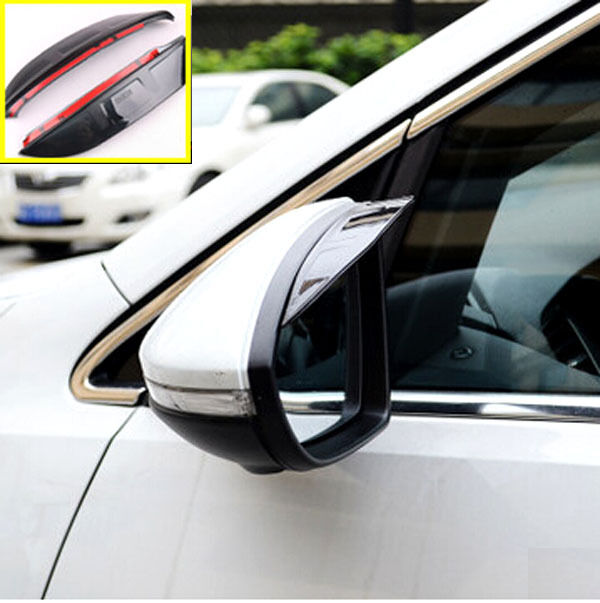 FIT FOR 2008-ON FORD FIESTA SIDE DOOR WING MIRROR RAIN GUARD VISOR SHIELD COVER