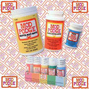 Mod podge decoupage adhesive glue sealer matte gloss for Waterproof acrylic sealer for crafts