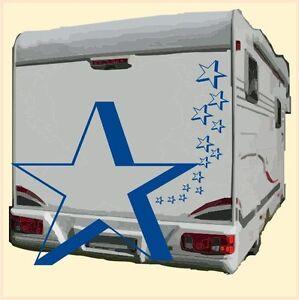 Sternenset 15 Teile - Aufkleber Auto Wohnmobil Reisemobil Caravan Wohnwagen