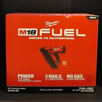 NEW Milwaukee 2745-20 M18 FUEL 30-Degree Framing Nailer