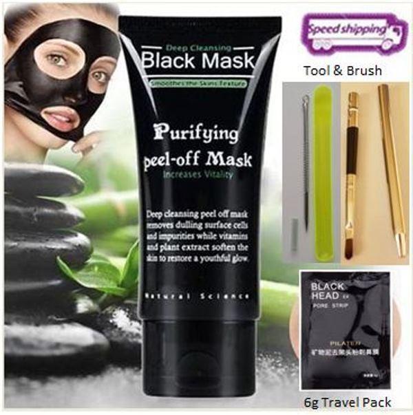 Deep Cleansing Black MASK peel-off facial acne Blackhead Kit