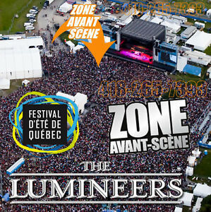 THE LUMINEERS PASSE ZONE AVANT SCENE FESTIVAL ETE DE QUEBEC FEQ