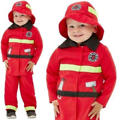 Kleinkinder Feuerwehrmann Kostüm Jungen Feuerwehrmann Outfit von Smiffys ()