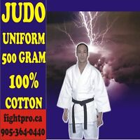 JUDO UNIFORM, 480 GRAM, 100% COTTON, SAVE 70% ON JUDO SUPPLIES