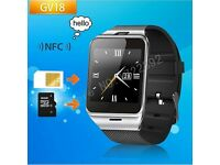Bluetooth Smart Watch GV18 with SIM card TF mp3 mp4 compatible with apple and Android Phones