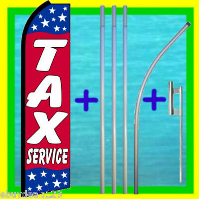 Tax Service Swooper Flag Pole Mount Income Tax Sign Feather Flutter Banner