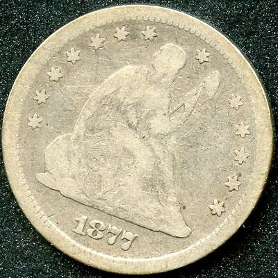 1877-S (VG) SILVER SEATED LIBERTY QUARTER