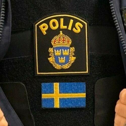 SVERIGE SWEDEN SWEDISH POLISEN POLIS PIKETEN PIKETENHETEN瑞典警察 PATCH + Flag