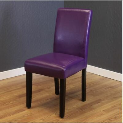 NEW Purple Faux Leather Dining Chairs Set of 2 Cheap Table Bar Furniture Durable