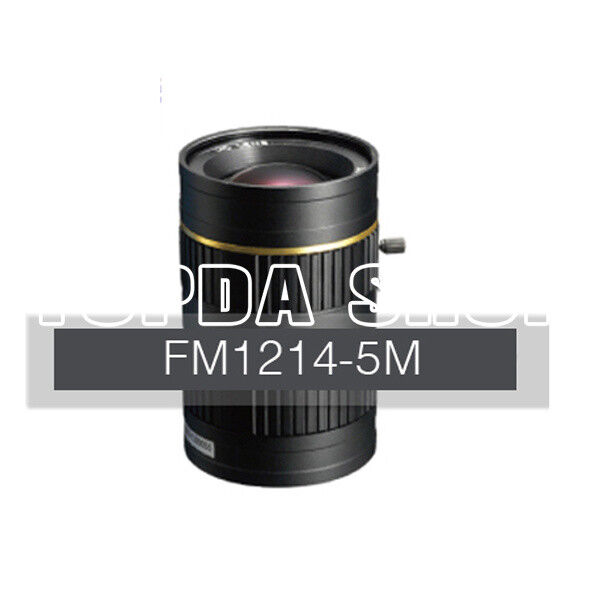 FM1214-5M 5Megapixel 2/3 12mm F1.4 C-mount manual iris industrial Camera lens#SS