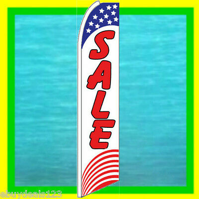 Sale Usa Banner Flag Advertising Sign Feather Swooper Bow Flutter