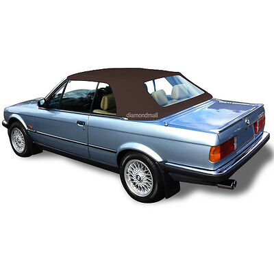 BMW E30 Convertible Soft Top & Plastic Window 3 series 1986-1993 Brown German