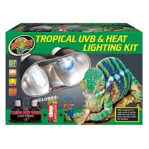 Zoomed Tropical Reptile UVB & Heat Lighting Kit For Sale