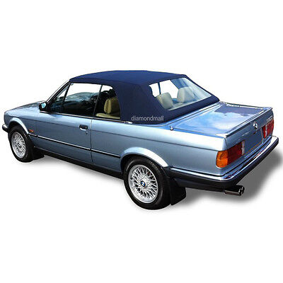 BMW E30 Convertible Soft Top & Plastic Window 3 series 1986-1993 Blue German