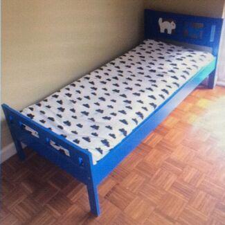 Ikea Kritter Toddler Bed (Blue)