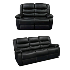 Roma 3+2 Seater Recliner Bonded Leather Sofa is Available Now