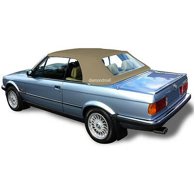 BMW E30 Convertible Soft Top & Plastic Window 3 series 1986-1993 Tan German