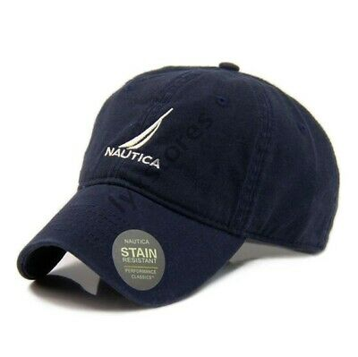Nautica Cap Baseball Tennis Golf Casual Unisex Dark Blue Adjustable Sun Hat