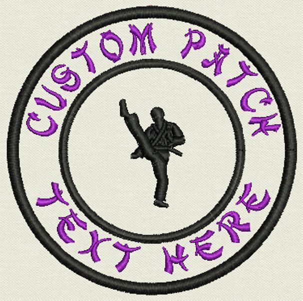 """Martial Arts Custom Embroidered Tag, Patch, Badge Iron On or Sew On - 3.50"""""""