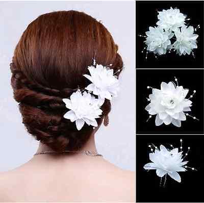 Haarnadel Hochzeit Spange Blume Strass Tiara Haarspange Brautschmuck Haare
