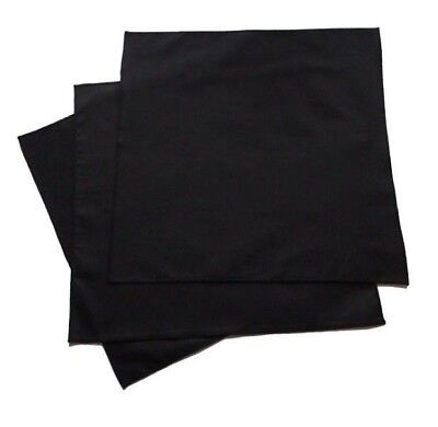 Small 100% Organic Cotton Black Men's Handkerchiefs - Set of 3, USA made